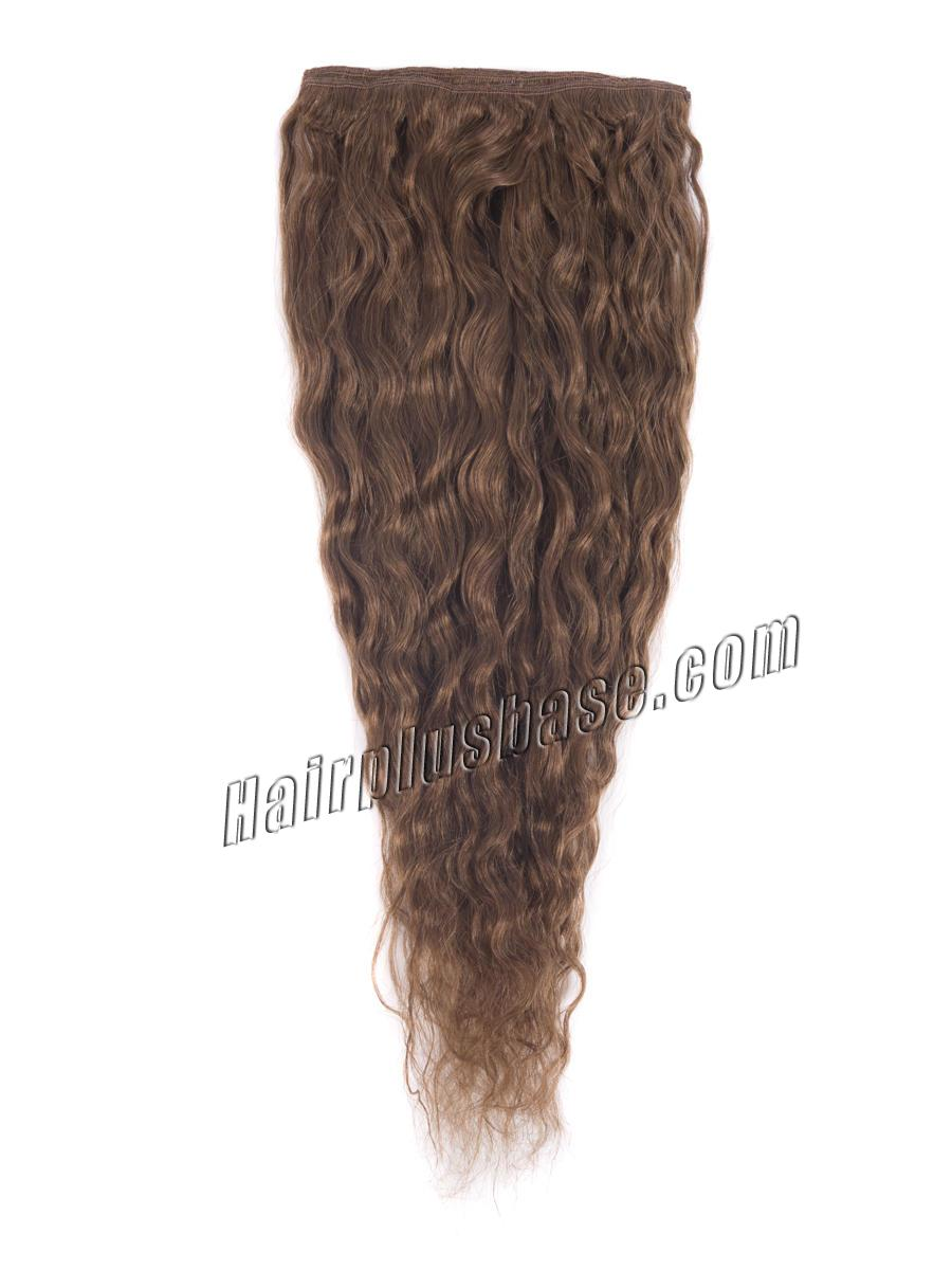 32 Inch #6 Light Brown Clip In Hair Extensions Loose Wavy 11 Pcs no 3