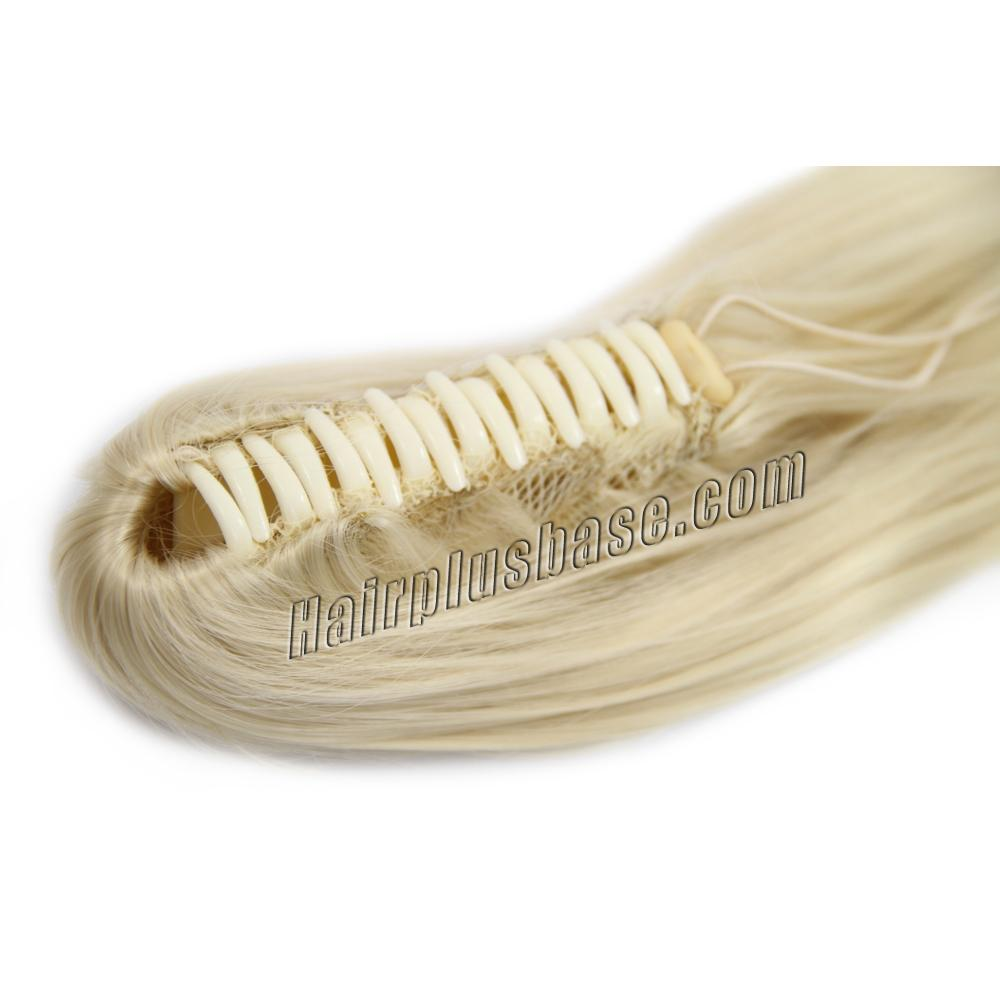 32 Inch Claw Clip Human Hair Ponytail Nice Straight #613 Bleach Blonde no 1