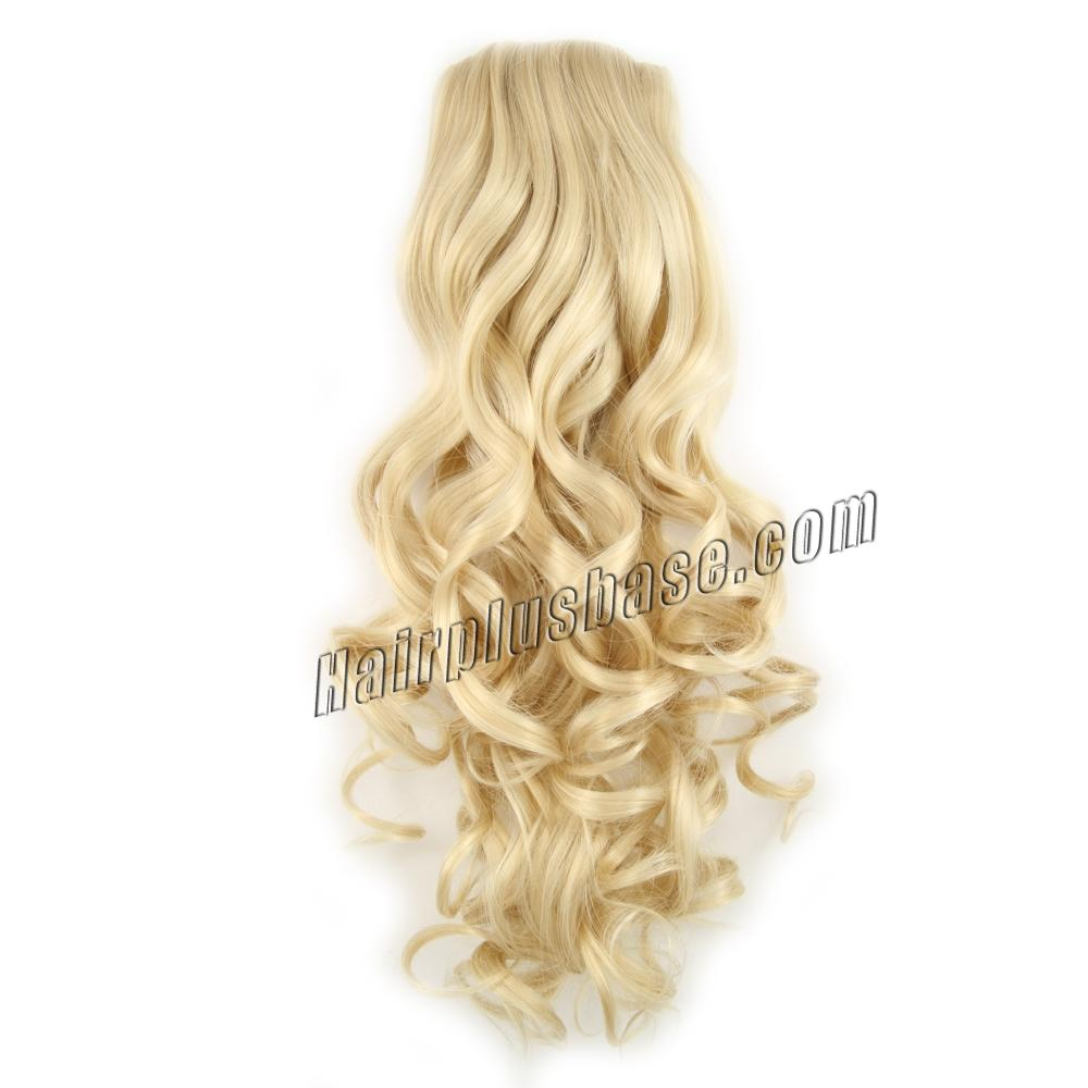 32 Inch Drawstring Human Hair Ponytail Exquisite Curly #24 Ash Blonde no 1