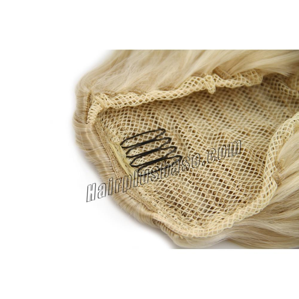 32 Inch Drawstring Human Hair Ponytail Exquisite Curly #24 Ash Blonde no 2