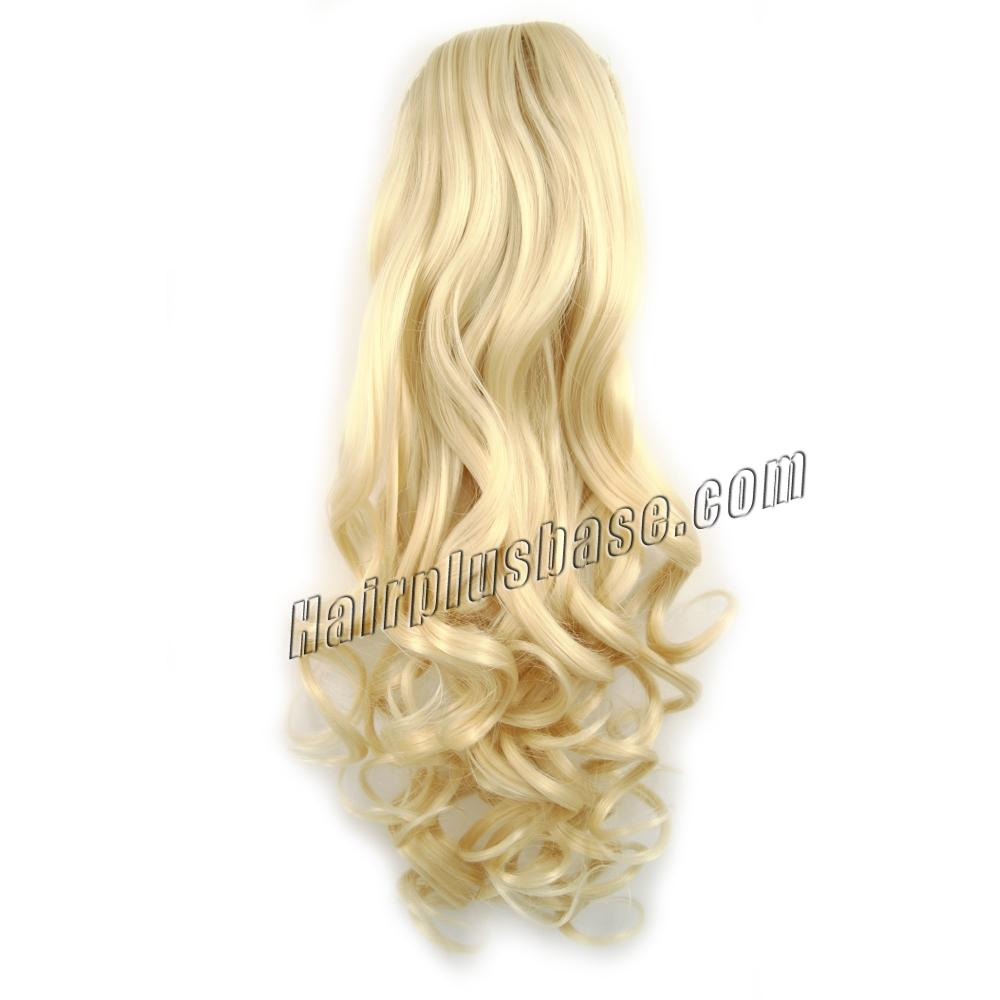 32 Inch Drawstring Human Hair Ponytail Fulgurant Curly #613 Bleach Blonde no 1