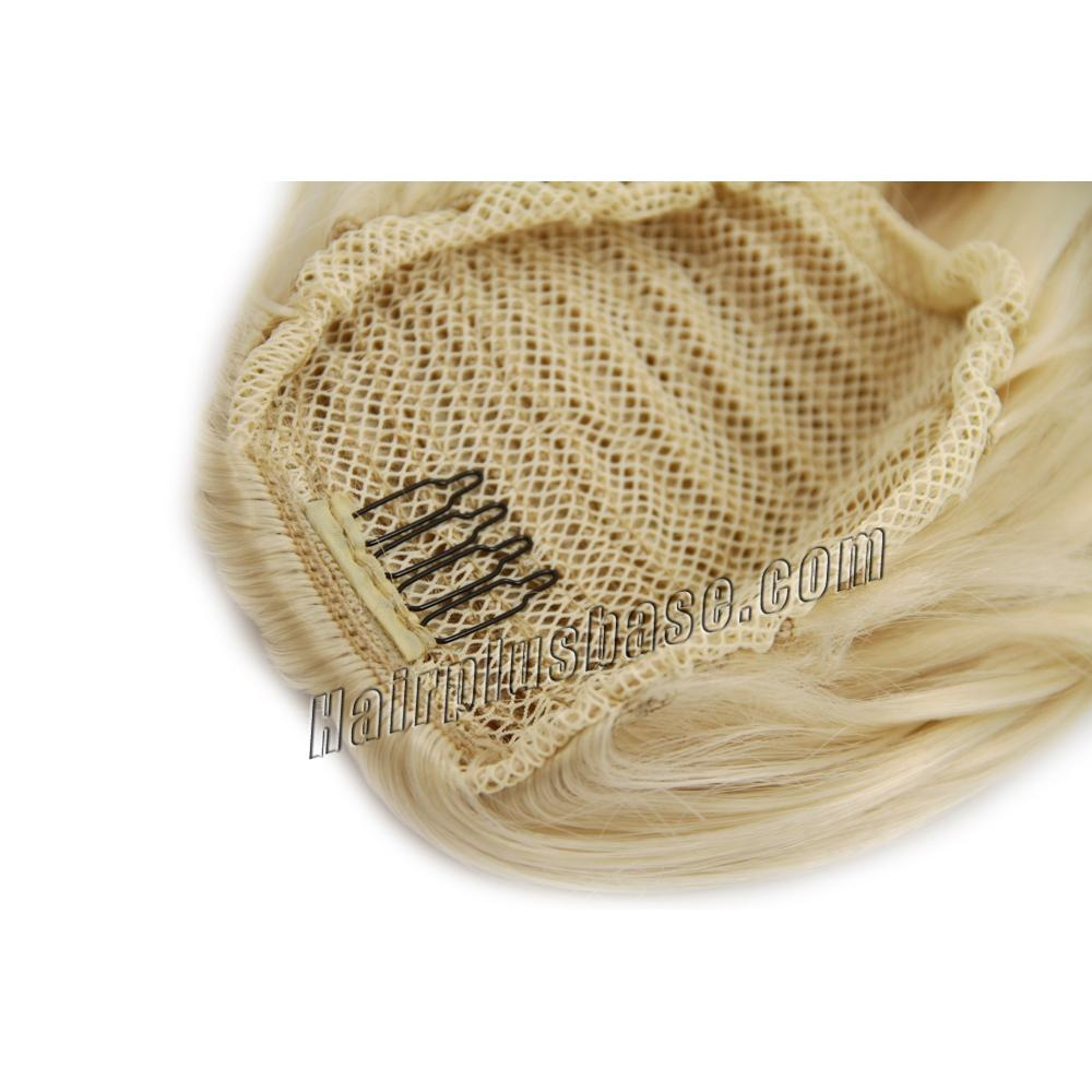 32 Inch Drawstring Human Hair Ponytail Fulgurant Curly #613 Bleach Blonde no 2