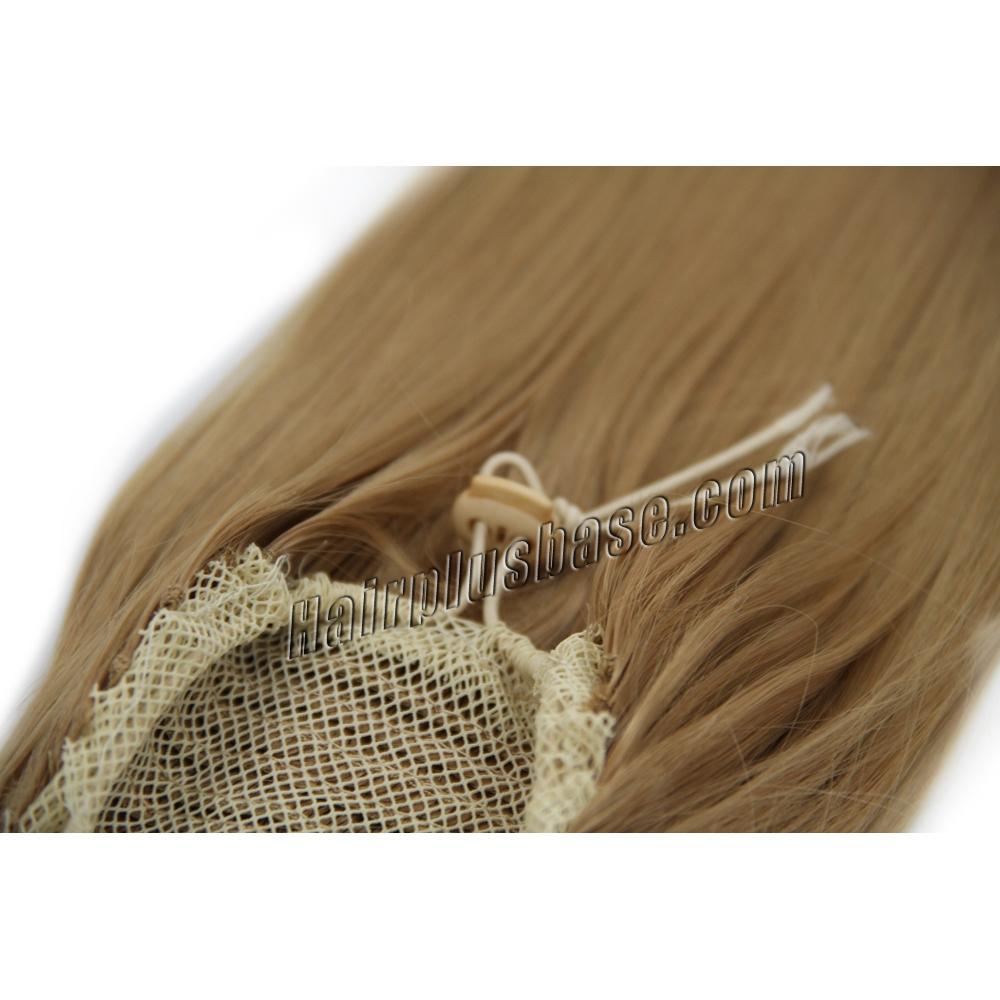 32 Inch Drawstring Human Hair Ponytail Glaring Straight #27 Strawberry Blonde no 2