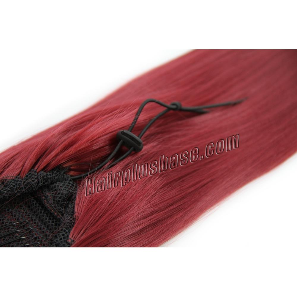32 Inch Drawstring Human Hair Ponytail Special Straight Red no 2