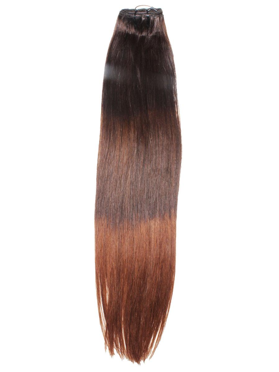 32 Inch Elegant Ombre Clip In Hair Extensions Three Tone Straight 9 Pieces no 3