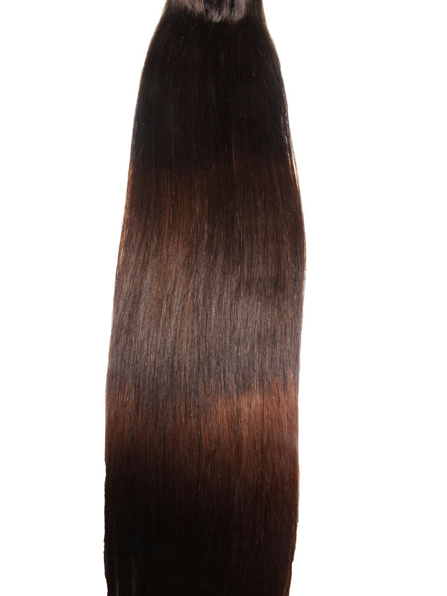 32 Inch Elegant Ombre Clip In Hair Extensions Three Tone Straight 9 Pieces no 8