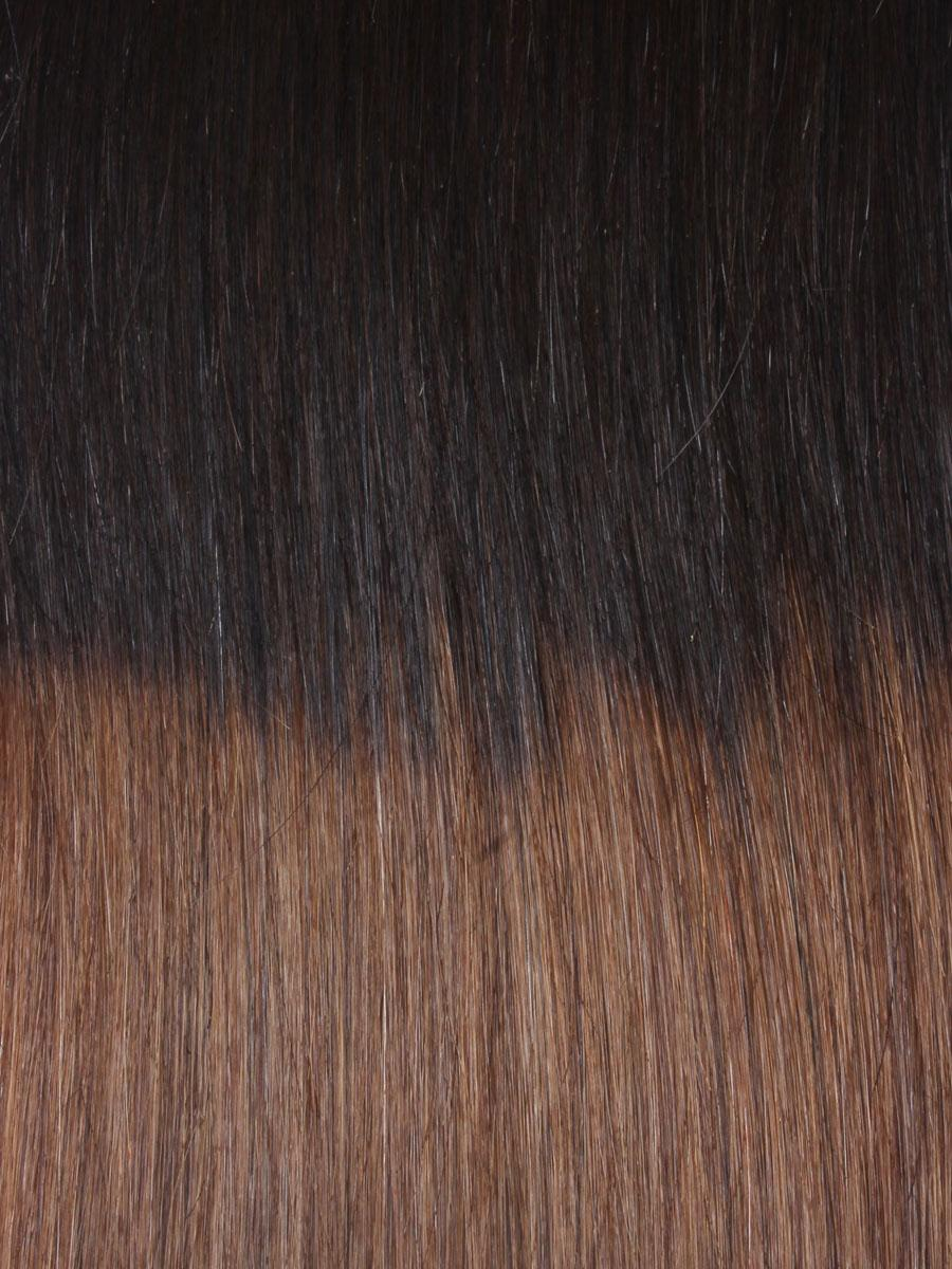 32 Inch Graceful Ombre Clip In Hair Extensions Three Tone Straight 9 Pieces no 2