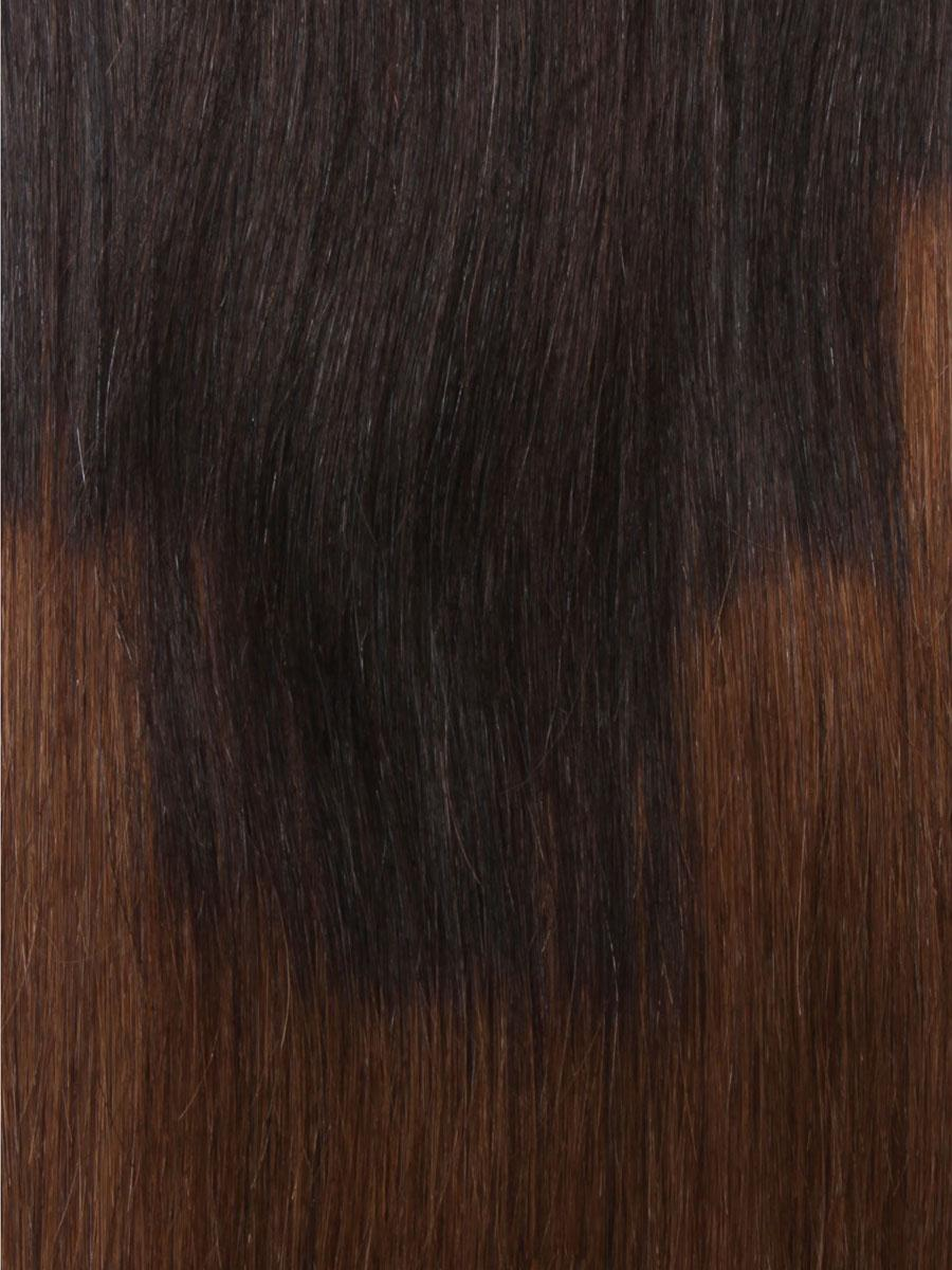 32 Inch Graceful Ombre Clip In Hair Extensions Three Tone Straight 9 Pieces no 4
