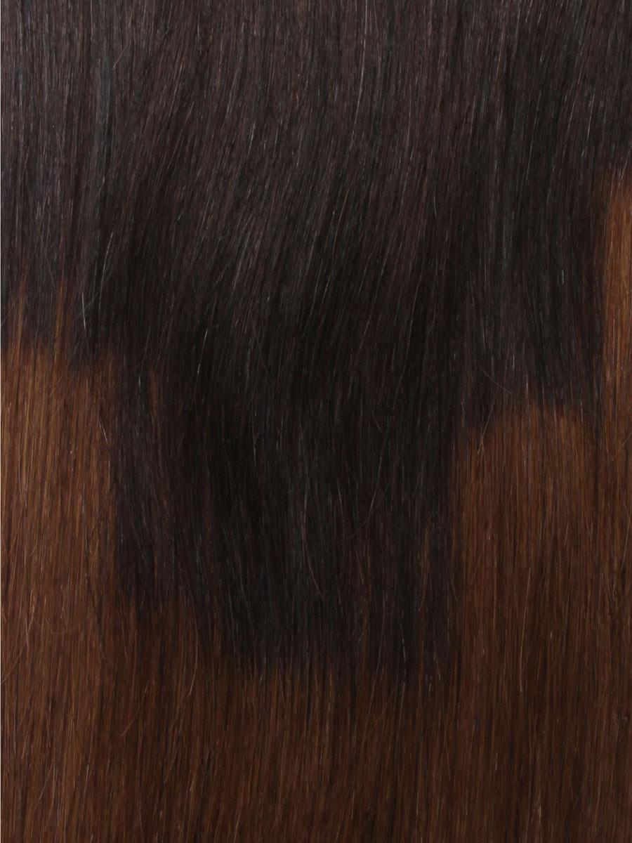32 Inch Graceful Ombre Clip In Hair Extensions Three Tone Straight 9 Pieces no 6