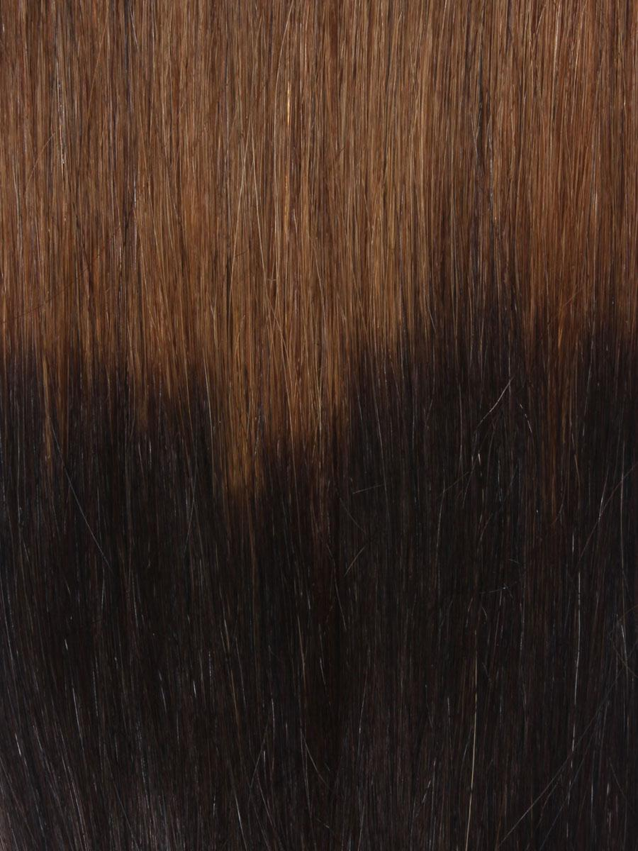 32 Inch Stylish Ombre Clip In Hair Extensions Three Tone Straight 9 Pieces no 4