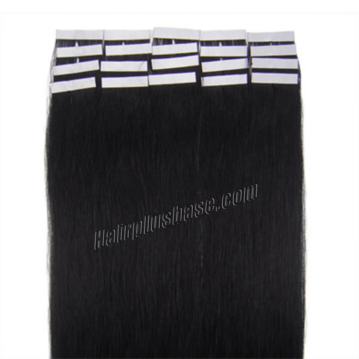 34 inch  1 jet black tape in human hair extensions 20pcs 11186 1v