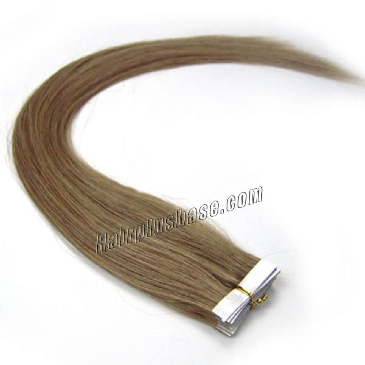 34 inch  12 golden brown tape in human hair extensions 20pcs 11181 0v