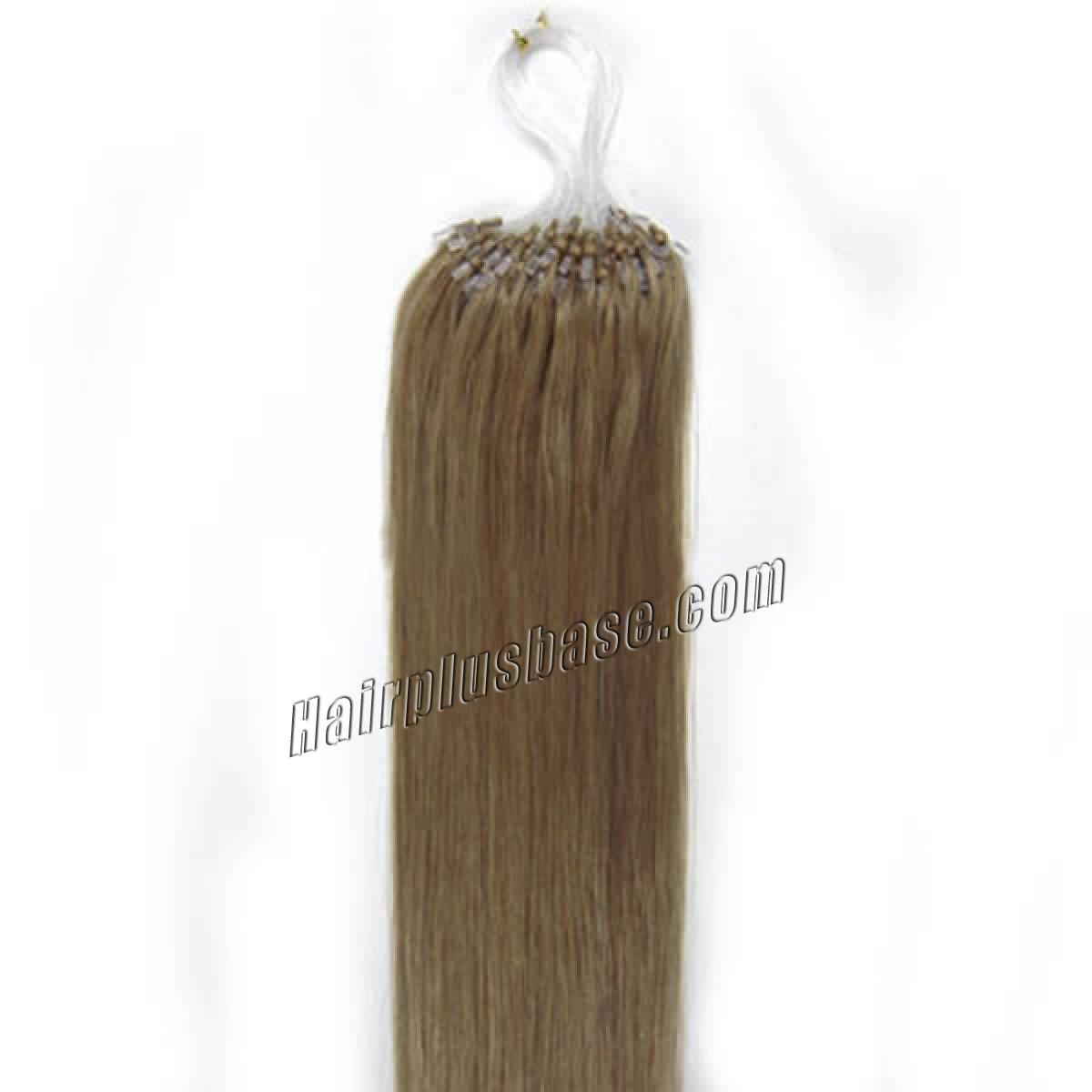 34 inch  16 golden blonde micro loop human hair extensions 100s 100g 12405 1v