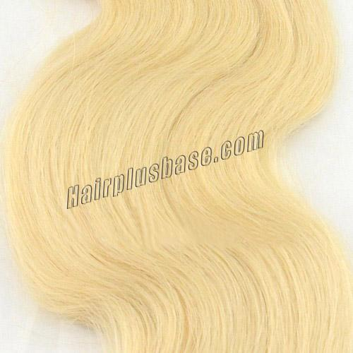 34 inch  24 ash blonde tape in hair extensions silky body wave 20 pcs 21361 2v