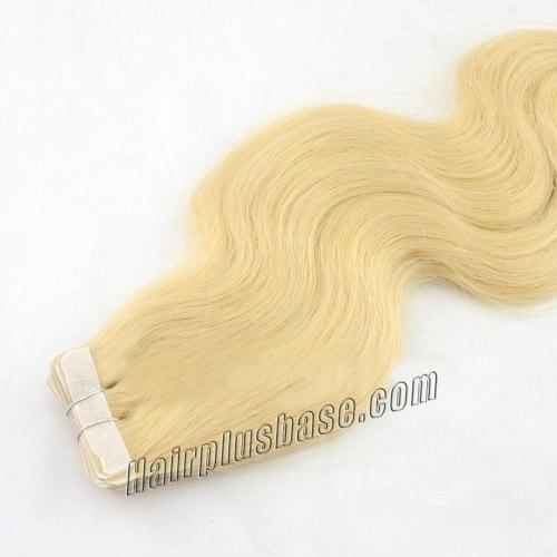 34 inch  24 ash blonde tape in hair extensions silky body wave 20 pcs 21361 3v