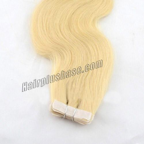 34 inch  24 ash blonde tape in hair extensions silky body wave 20 pcs 21361 4v