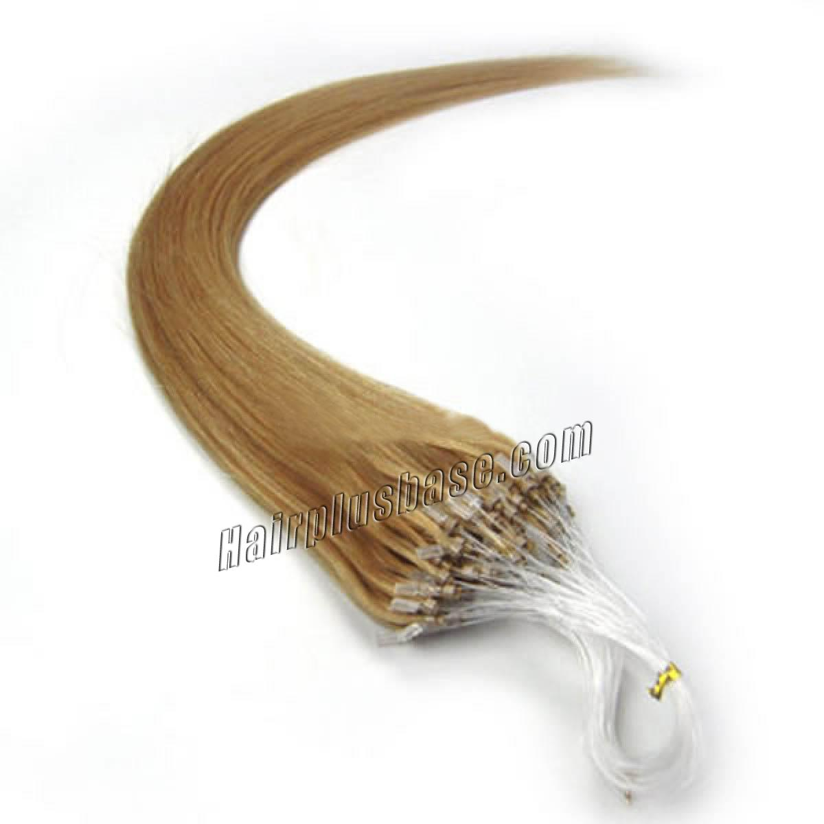 34 inch  27 strawberry blonde micro loop human hair extensions 100s 100g 12403 0v