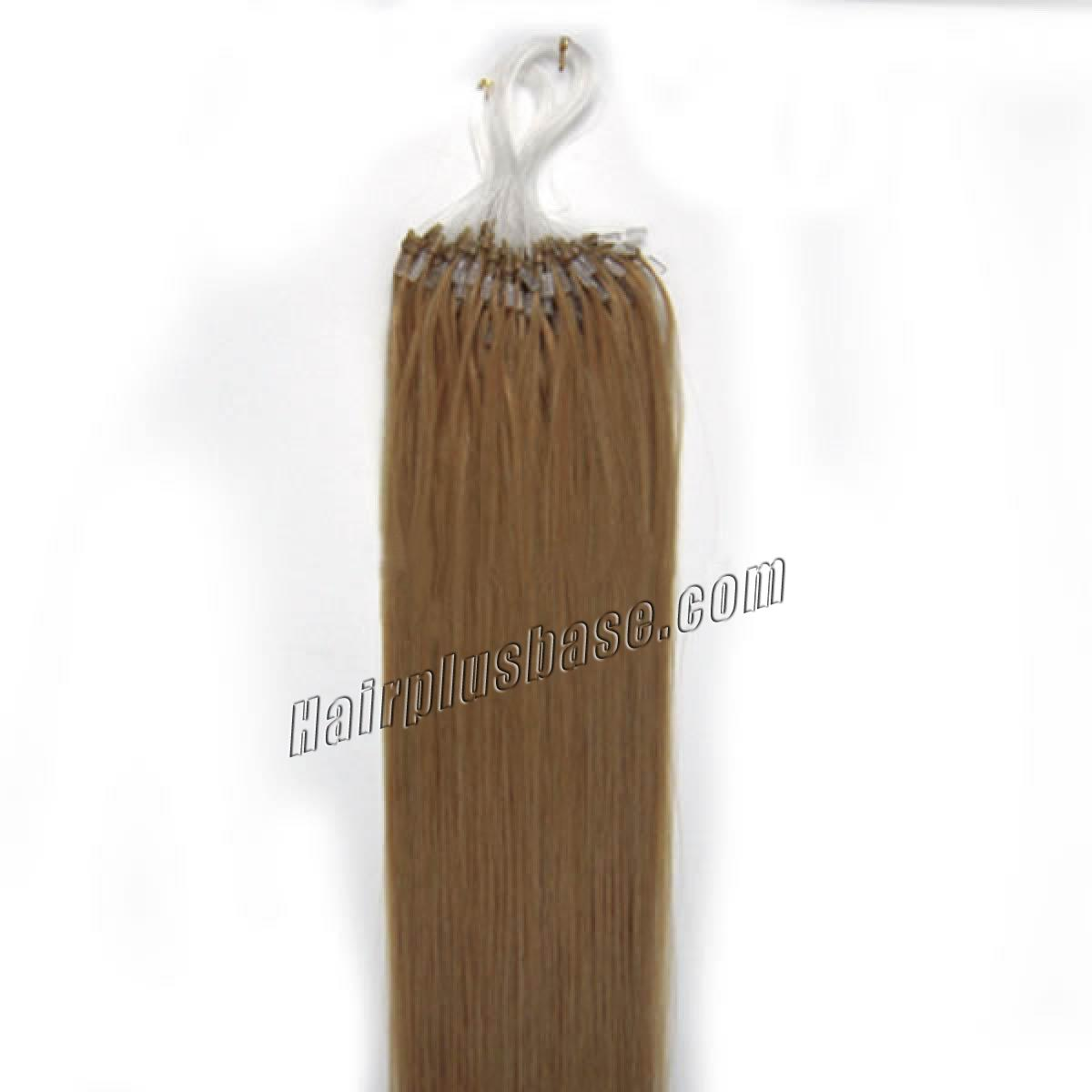 34 inch  27 strawberry blonde micro loop human hair extensions 100s 100g 12403 1v