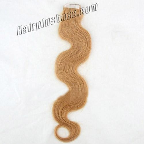34 inch  27 strawberry blonde tape in hair extensions glossy body wave 20 pcs 21368 0v