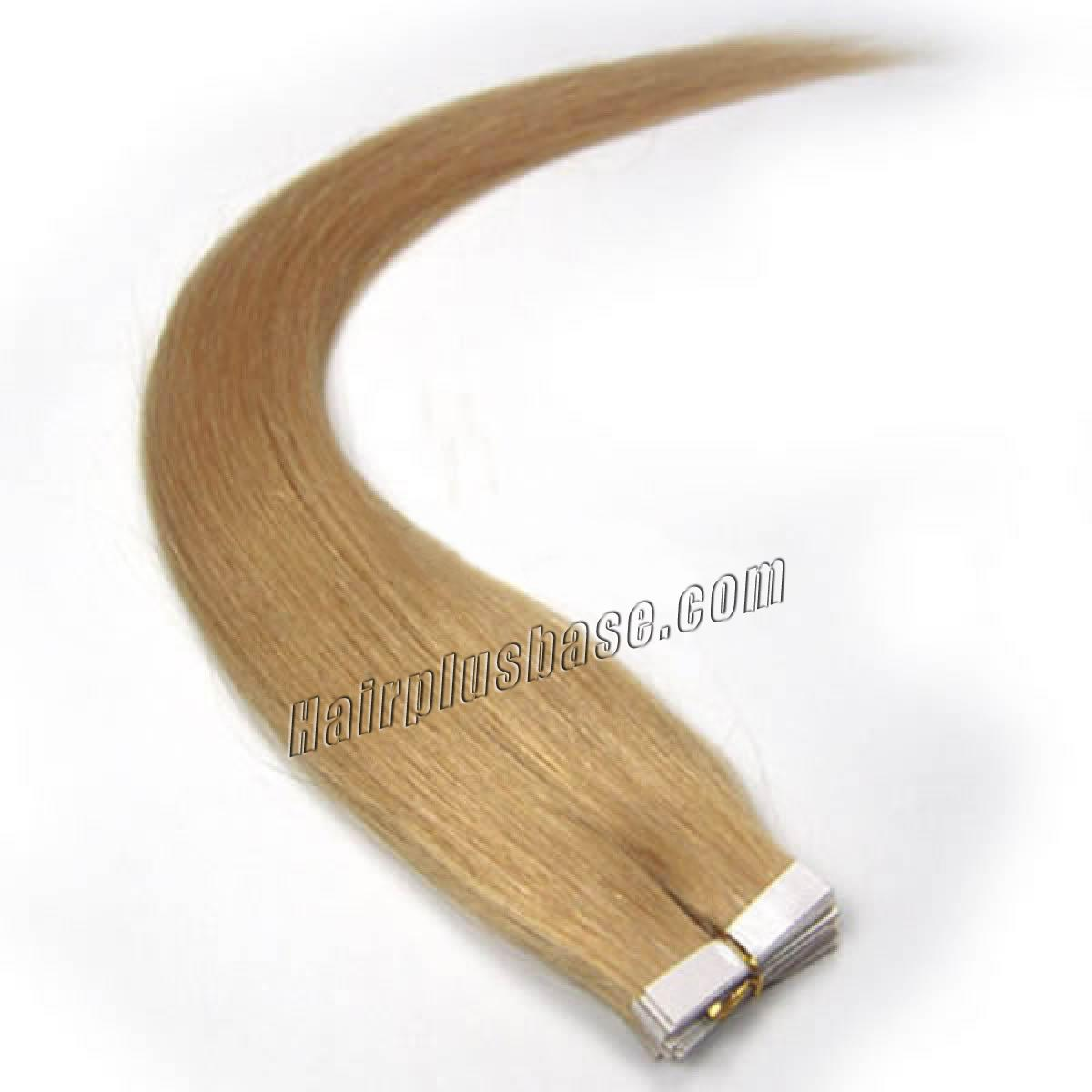 34 inch  27 strawberry blonde tape in human hair extensions 20pcs 11178 0v