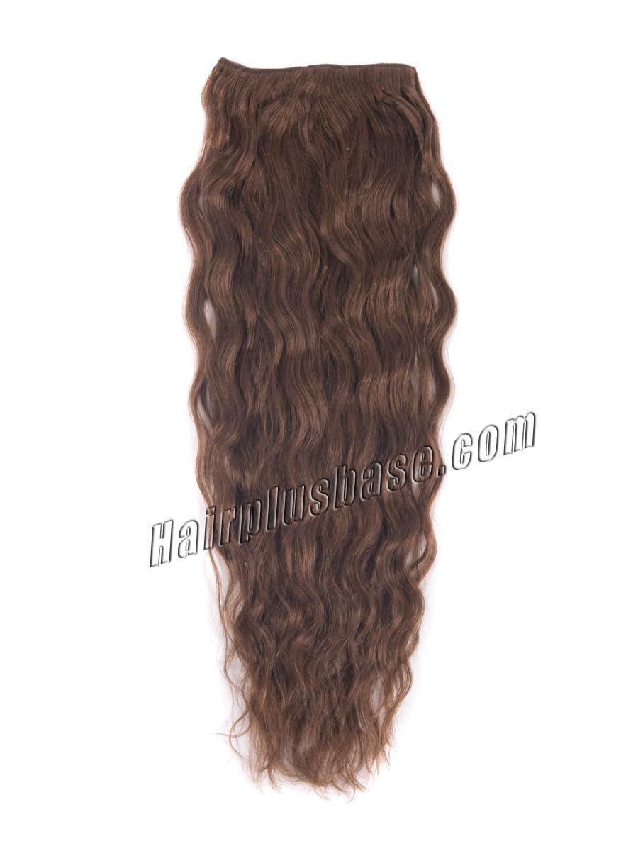 34 Inch 33 Dark Auburn Full Head Clip In Hair Extensions Loose Wavy 11 Pcs