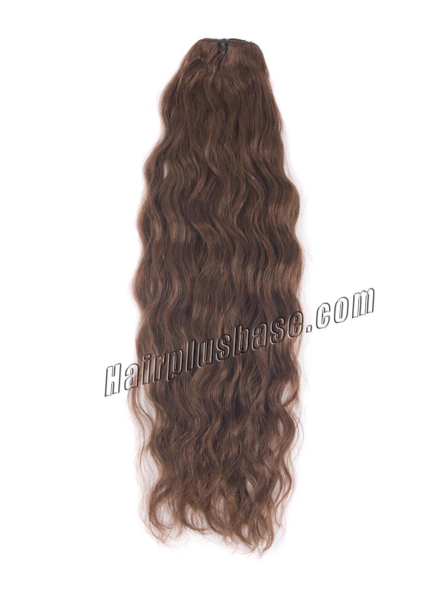 34 inch  33 dark auburn full head clip in hair extensions loose wavy 11 pcs 21223 2v