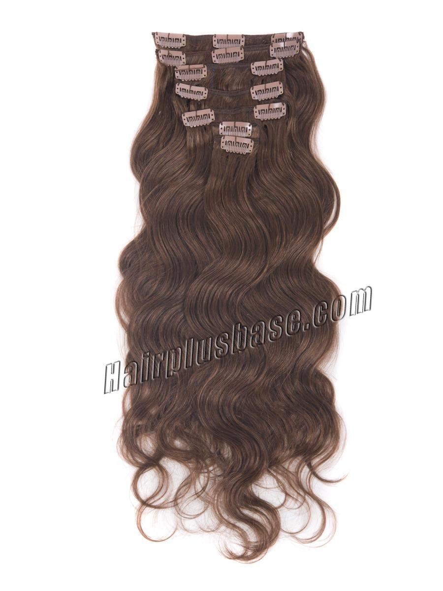 34 inch  33 rich copper red clip in hair extensions body wave 11 pcs 21178 1v