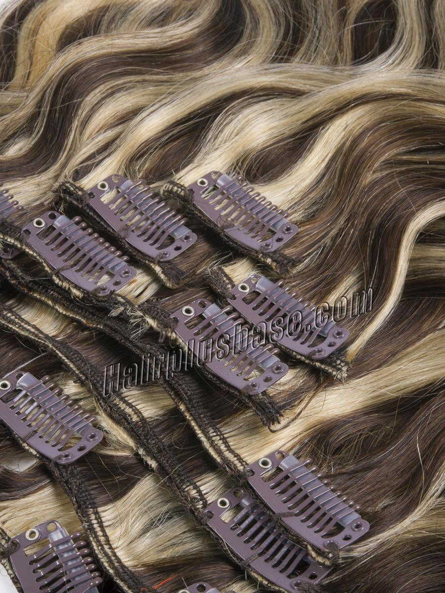 34 inch  4 613 clip in hair extensions body wave 11 pieces 21160 1v