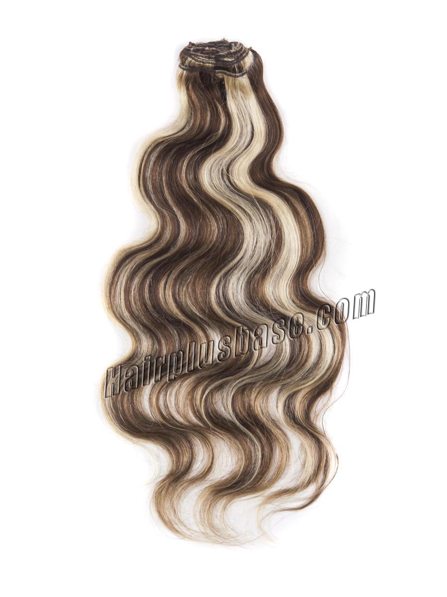 34 inch  4 613 clip in hair extensions body wave 11 pieces 21160 2v