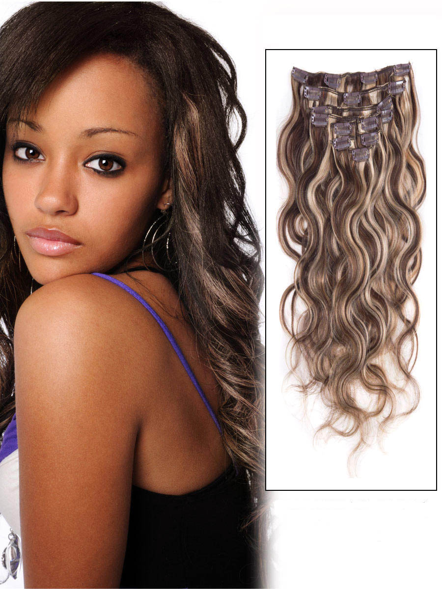 34 Inch 4613 Clip In Hair Extensions Body Wave 11 Pieces