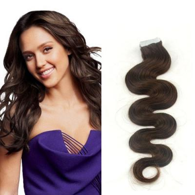 34 inch  4 medium brown long tape in hair extensions body wave 20 pcs 21396 t
