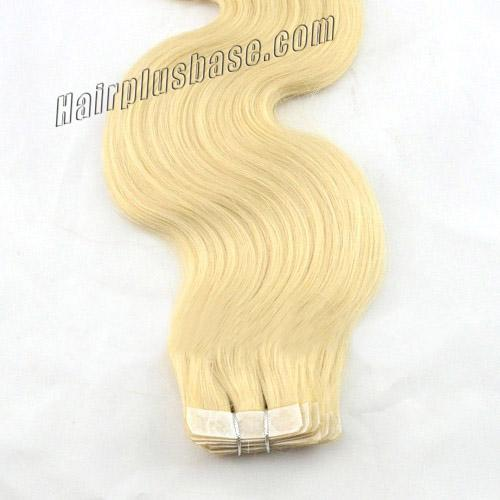 34 inch  60 white blonde tape in hair extensions body wave 20 pcs 21382 3v