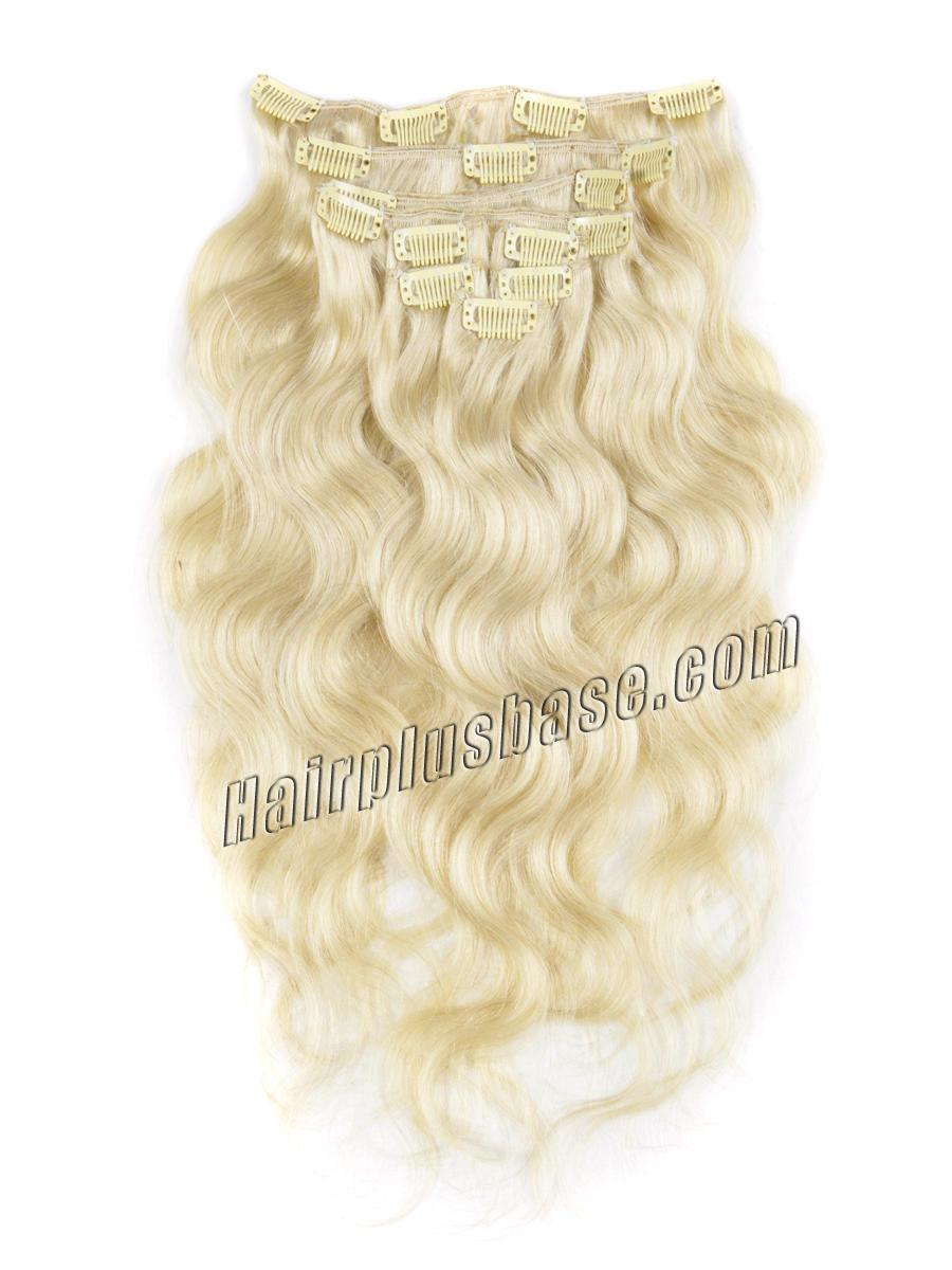 34 inch  613 bleach blonde clip in hair extensions body wave 11 pieces 21151 0v
