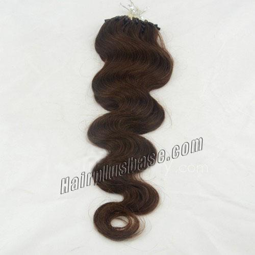 34 inch bestseller  4 medium brown body wave micro loop hair extensions 100 strands 21637 0v
