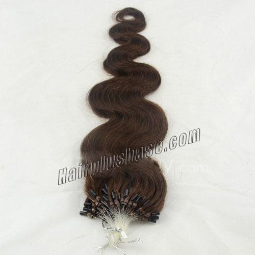 34 inch bestseller  4 medium brown body wave micro loop hair extensions 100 strands 21637 1v