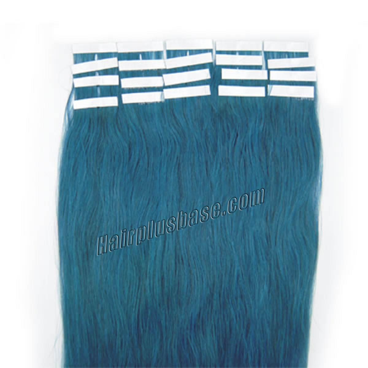 34 inch blue tape in human hair extensions 20pcs 11174 1v