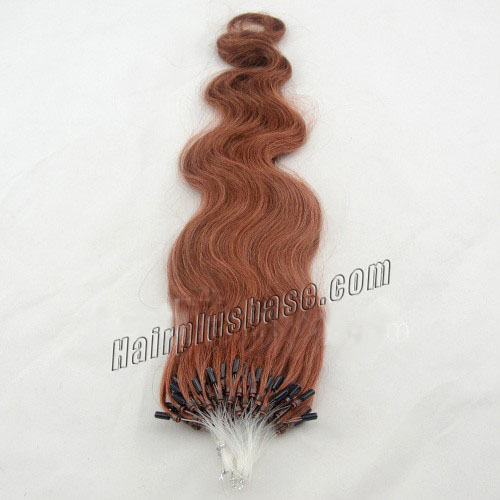 34 inch lovely  33 rich copper red body wave micro loop hair extensions 100 strands 21631 1v