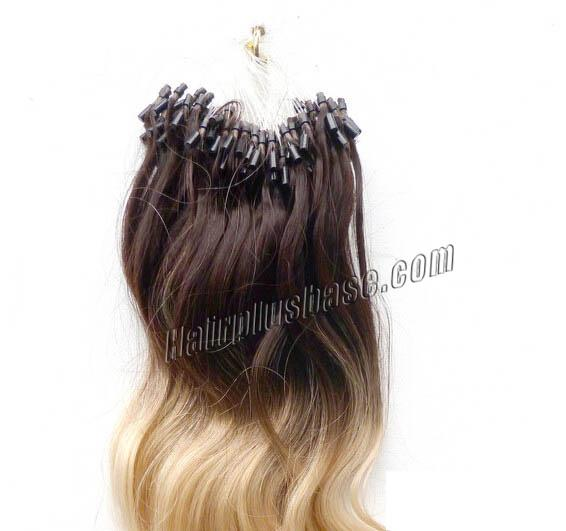 34 inch ombre body wave micro loop hair extensions two tone 100s 22625 0v