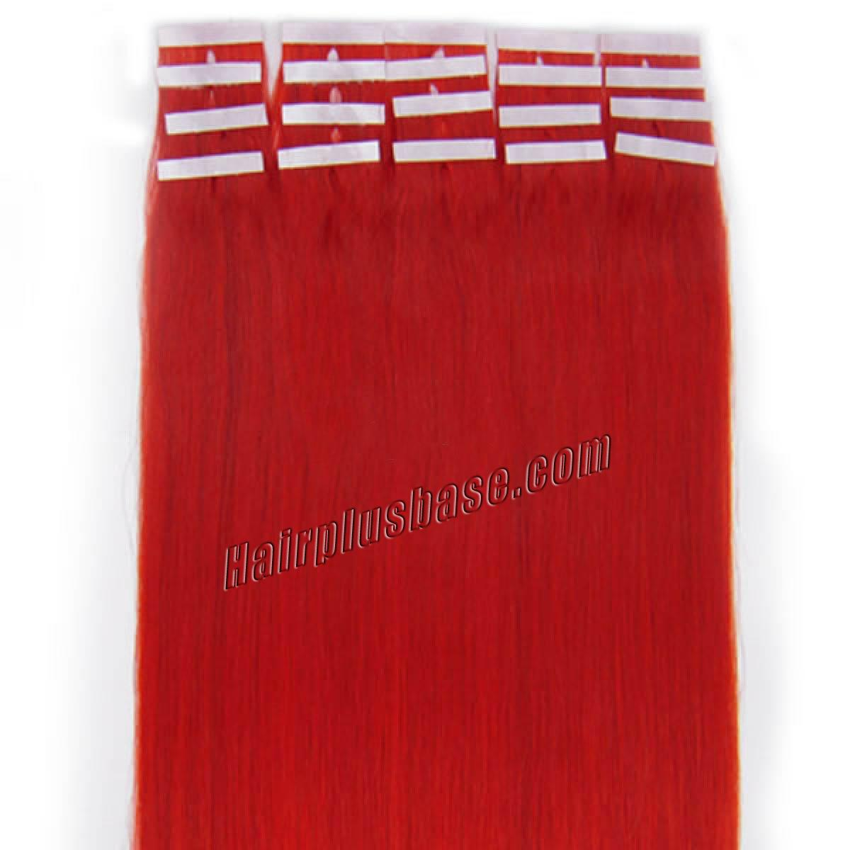 34 inch red tape in human hair extensions 20pcs 11170 1v