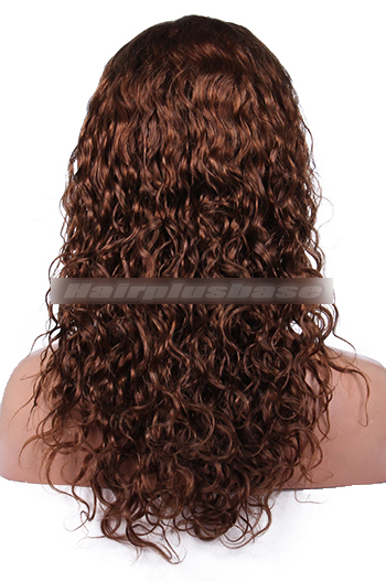 16 Inch #4/30 Curl Indian Remy Hair Clearance Full Lace Wig