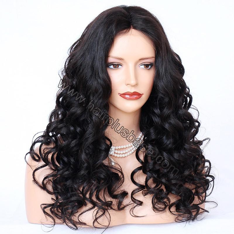 4*4 Glueless Silk Top Full Lace Wigs Indian Human Hair Body Wave 2