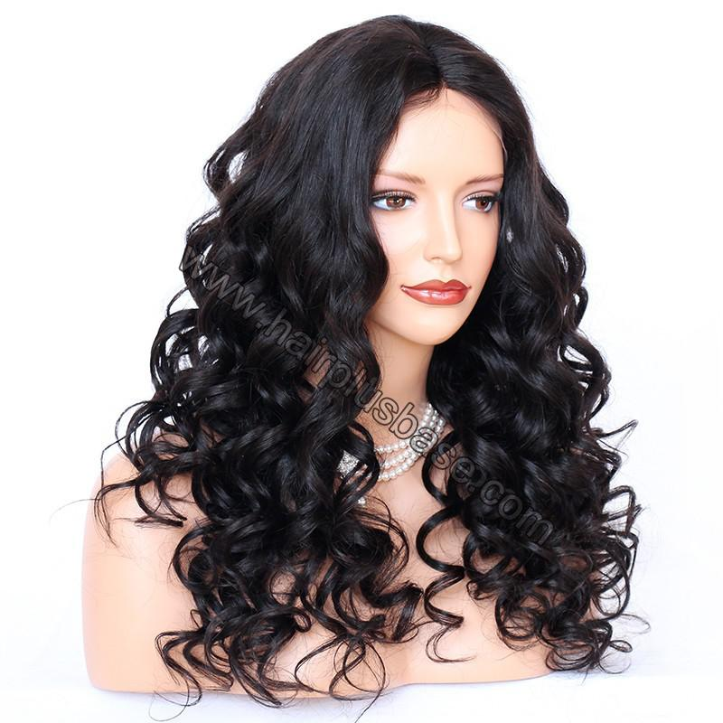 4*4 Glueless Silk Top Full Lace Wigs Indian Human Hair Body Wave 3