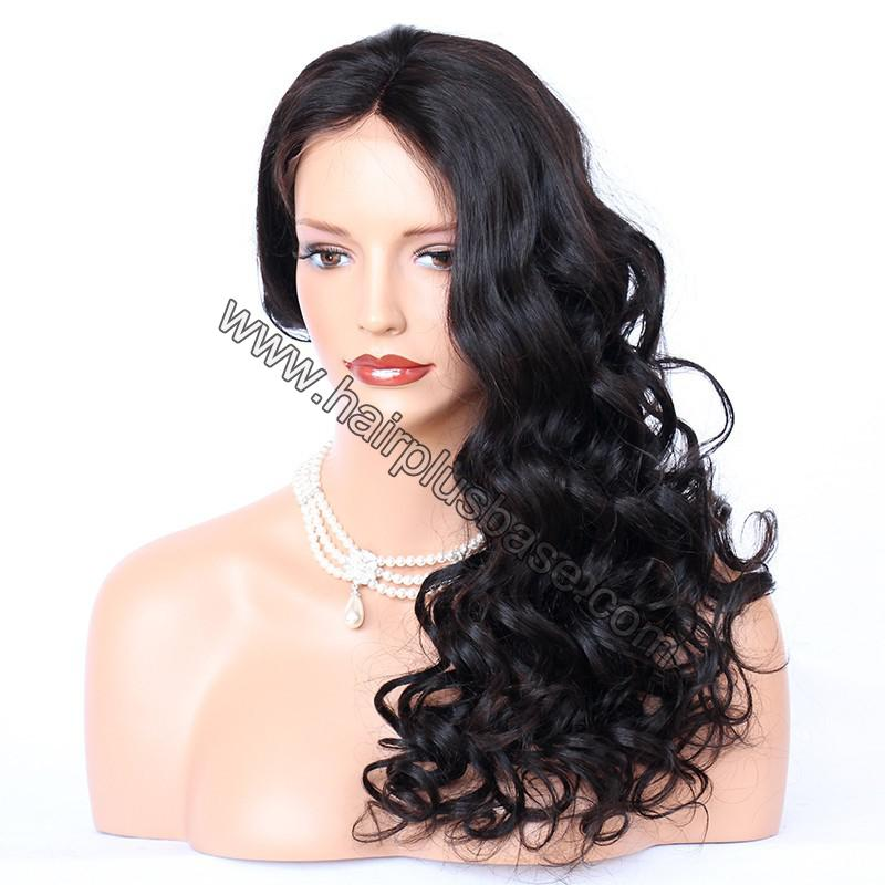 4*4 Glueless Silk Top Full Lace Wigs Indian Human Hair Body Wave 6