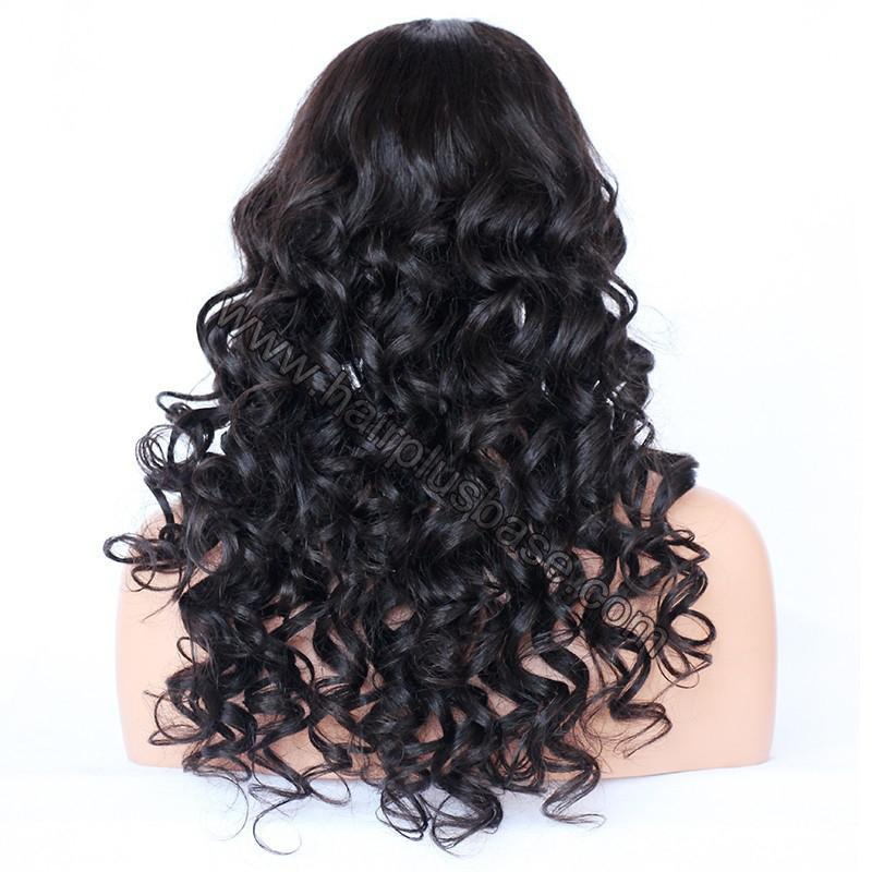 4*4 Glueless Silk Top Full Lace Wigs Indian Human Hair Body Wave 7