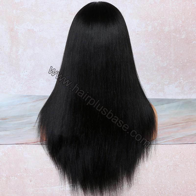 4.5 Inch Deep Part High Density Yaki Straight Lace Front Wigs 250% Density, Indian Remy Hair 3