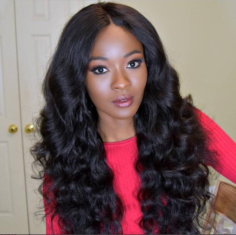 4.5 Inch Deep Part Wavy Lace Front Wigs Indian Remy Hair