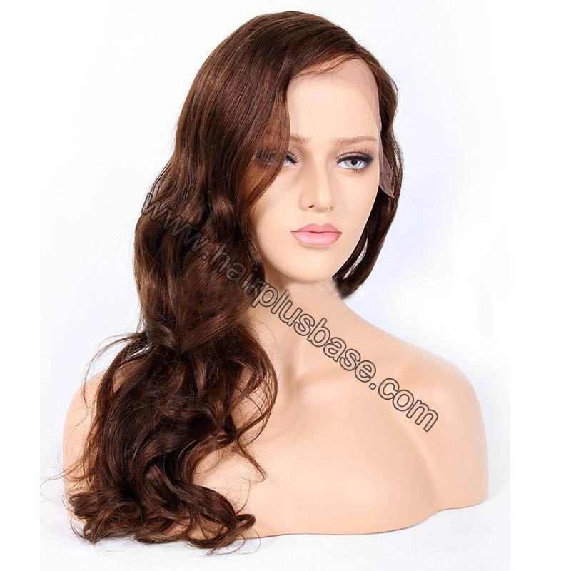 4.5 Inches Deep Part Fashion Wave Lace Front Wigs Indian Remy Hair, #4