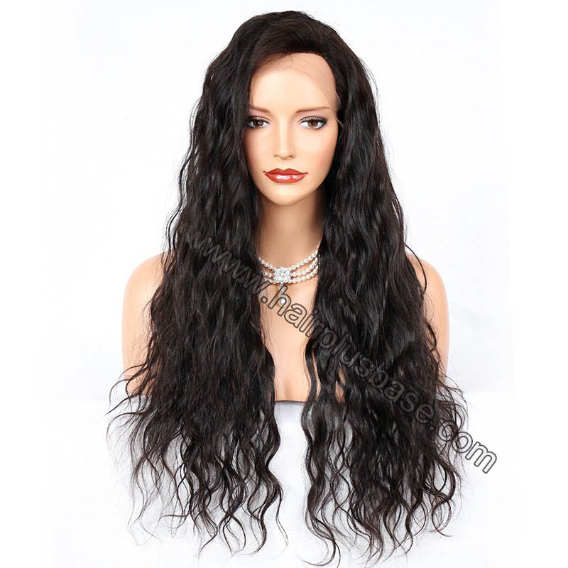4.5 Inches Deep Part Natural Wave Lace Front Wigs Indian Remy Hair