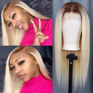 4/613 Ombre 613 Blonde Hair Straight And Body Wave Lace Front Wigs 8-30Inch