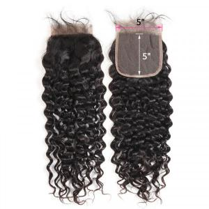 5x5 Size Closure Brazilian Natural Wave Hair Lace Frontal Closure For Sale